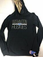 Washington Huskies Hoodie Womens Large Student Alumni Lightweight Long Sleeve