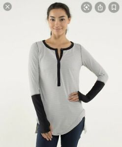 Lululemon Urbanite Henley Long Sleeve Size 12 Shirt Thumbhole