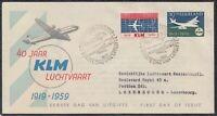 39269) Niederlande 1959 FDC 40 Jahre KLM Luftfahrt Mi.-Nr. 737, 738