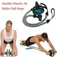 Abdominal Wheel Roller Training Elastic Rope Abs Exerciser Workout Fitness Gym