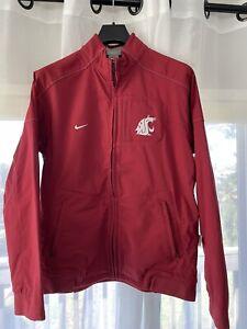 Washington State WSU Cougars NIKE Dri-Fit Fleece Lined Full Zip Jacket L