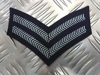 Genuine Vintage British RAF Corporal 2 Chevrons Arm Patch / Badge - Brand New