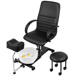 Hydraulic Spa Pedicure Chair Easy-Clean Height Adjustable Technician Stool