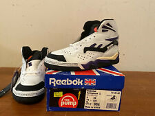 90s Reebok The Battleground II Pump 74-8148 Boys Basketball Shoe Size 3.5