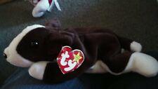 Ty Beanie Babies Bruno the Bull Terrier Puppy Dog Plush Pvc