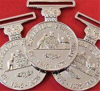 10 x AUSTRALIAN ARMY NAVY AIR FORCE ACTIVE SERVICE MEDAL 1945-75 REPLICA ASM