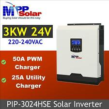 (HSE) 3000w Solar inverter 24v 230v 50A PWM solar charger 25A battery charger