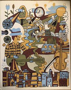 """Sufjan Stevens Chicago, Andy J. Miller Indie Rock Art,Mini Poster 14z10 3/4"""" D2"""