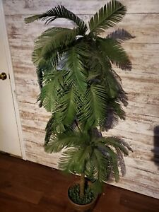 4' Tall Hawaii Artificial Palm Realistic Green Leaves Indoor Home Office Decor