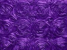 Satin Rosette Floral Fabric 54 Inch Wide / Fancy Pattern Fabric / Floral Rose