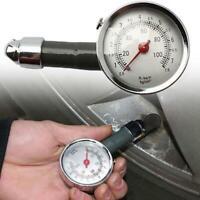 PROFESSIONAL TYRE PRESSURE GAUGE AIR MEASUREMENT  RELEASE BUTTON CAR BIKE new