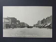 Alexandria Minnesota MN Real Photo Postcard RPPC Main Street Cars Cafe c.1920