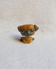 LITTLEST PETSHOP #02 / 2007 HASBRO DOG CHIEN CARLIN MARRON YEUX MARRON & VERT