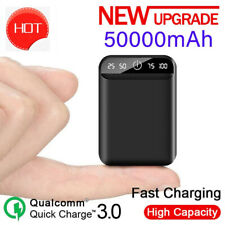 50000mAh Portable Power Bank Fast Charger Digital Display for IPhone/Android