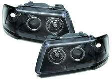 Black clear finish projector headlights with angel eyes for Audi A3 8L 96-00