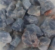 Rough Natural Blue Calcite Crystal: 1 Large Piece Gemstone Crystal Healing