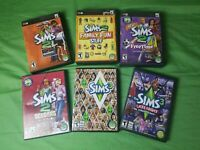 SIMS 6 Game lot 4 Sims 2 Expansion Packs & Sims 3 + Late Night Expansion WIN/MAC