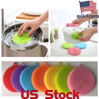 Multifunction Cleaning Bowl/Pan/Dish Wash/Washing Sponge Kitchen Brush Silicone