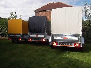 Trailer 9FTx4FT TWIN AXLE Box Small Camping Car 2,70 x 1,32 m +150cm COVER