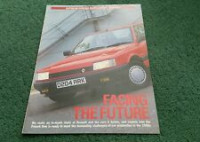 1986 1987 RENAULT FACING THE FUTURE AUTOCAR - 21 5 GT TURBO ESPACE 11   BROCHURE
