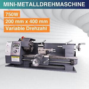 Metalldrehmaschine Mini-Drehmaschine Drehbank 750W Metal Lathe Tischdrehbank