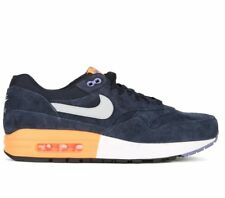 Nike Air Max 1 PRM Shoes (11.5) Dark Obsidian / Metallic Silver Orange