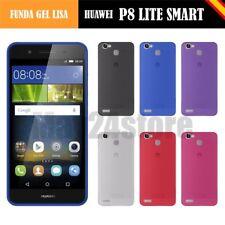 Funda gel lisa Huawei P8 LITE SMART + protector cristal lapiz memoria opcional