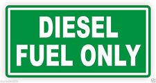 Diesel Only Vinyl Decal / Sticker / Label Fuel Door Label Turbo Weatherproof New