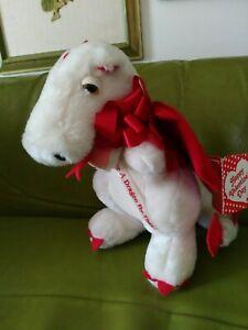 Dragon Plush Valentine's Day Dakin Duncan 1983 Vintage Toy Rare