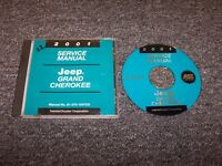 2001 Jeep Grand Cherokee Shop Service Repair Manual DVD Laredo Limited 4.0L 4.7L