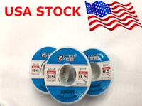 0.5mm Tin lead Solder Wire Rosin Core Soldering 2% Flux Reel Tube 60/40 2pc