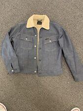 G Star Mens Denim Sherpa Style Jacket