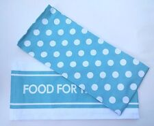 Cotton Kitchen Poka Polka Dot and Stripe Towel Set in Choice of Colors and Quote