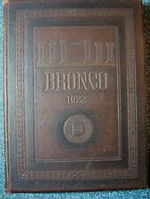 "Yearbook - SIMMONS COLLEGE (now Hardin-Simmons) 1922 ""Bronco"" ABILENE TEXAS"