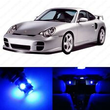 10 x Ultra Blue LED Interior Light Package For 1998 - 2004 Porsche 911 996