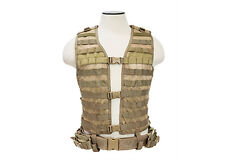 NcSTAR Tan XL-XXL MOLLE WEB PALS Modular Tactical Protective Vest Gear Holster