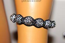 Bracelet boules disco, Bling Argent Macramé Diamants Bal Disco Jay Z, Hip Hop