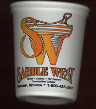 SADDLE WEST HOTEL CASINO - SLOT COIN / TOKEN CUP - PAHRUMP NEVADA