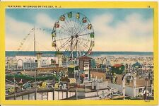 Looking at Playland Wildwood By The Sea Nj Postcard Amusement Park
