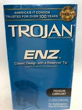 Trojan Condoms - ENZ Lubricated - 12 count, Exp. 07/2020 - 2024