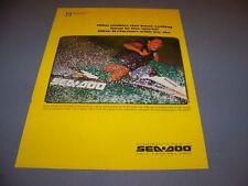 VINTAGE..1995 SEA DOO BOMBARDIER JET SKI ..ORIGINAL SALES AD...RARE! (256M)