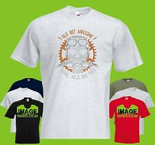 Young Wild And Free PRINTED T-SHIRT Skull Bike Handles Old Awesome
