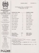 Huddersfield Town v Tranmere Rovers 93-94 Friendly Original A4 Single Sheet