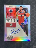 2018-19 Panini Contenders Optic Troy Brown Jr Silver Prizm Auto RC SP Variation