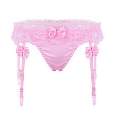 Women's Underwear Lace Garters G-string Ruffled Panties Thongs Lingerie Knickers