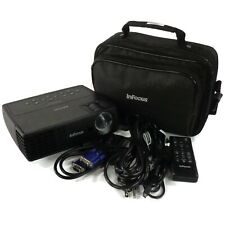 InFocus IN1110 DLP 3D Ready Projector w/ Remote, Case, & Cables 1102 Lamp Hours