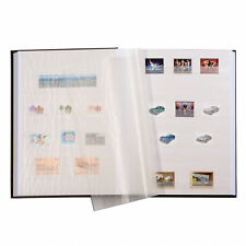 Stamp Collection Album 64 White pages LIGHTHOUSE 322874 Black Stock Book Album