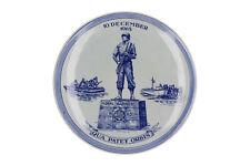 A Delft Blue & white Marine Corps 1665 -1965 plate Qua Patet Orbis