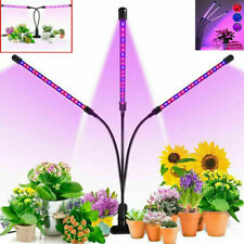 3 Heads LED Grow Lights Plant Flower Lamp for Indoor Greenhouse Hydroponic US