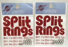2packs Smith Ltd Split Rings Size #0 5kg Area Trout Bass Lure Fishing